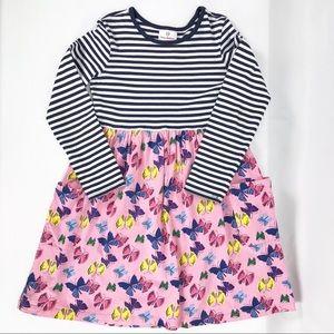 Hanna Andersson Butterfly Dress w/ Pockets Sz 130